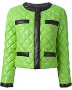 Moschino Cheap & Chic Quilted Two-Tone Jacket - Lyst