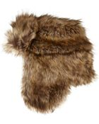River Island Brown Faux Fur Trapper Hat - Lyst