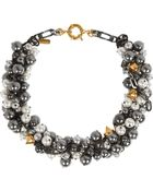 Vickisarge Rhapsody Gunmetal-Plated Swarovski Pearl Necklace - Lyst