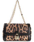 Dolce & Gabbana 'Dolce' Leopard Print Shoulder Bag - Lyst