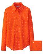 Uniqlo Women Cotton Lawn Dots Printed Long Sleeve Shirt - Lyst