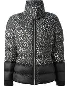 Moncler Gamme Rouge Contrast Printed Padded Coat - Lyst