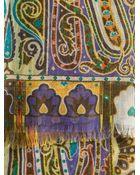 Etro Paisley Print Scarf - Lyst