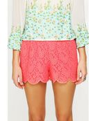 Free People Scalloped Lace Skort - Lyst