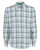 Jaeger Linen Check Regular Shirt - Lyst