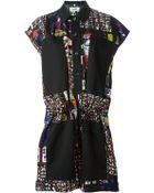 Jean Paul Gaultier Egyptian Print Shirt Dress - Lyst