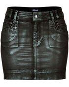 Just Cavalli Stretch Cotton Laminated Mini-Skirt - Lyst