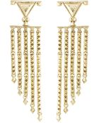 House Of Harlow 1960 Tres Tri Fringe Earrings - Lyst