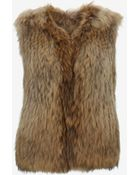 Yves Salomon Collarless Raccoon Fur Vest - Lyst