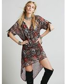 Free People Womens Lets Run My Dear Dress - Lyst