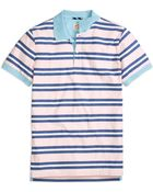 Brooks Brothers Three-Color Stripe Polo Shirt - Lyst