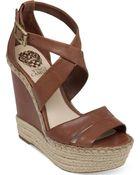 Vince Camuto Marcela Espadrille Platform Wedge Sandals - Lyst