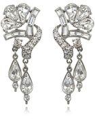 Ben-amun Bridal Crystal Double Drop Earrings - Lyst
