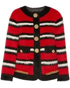 Marc Jacobs Striped Llama and Wool-blend Jacket - Lyst