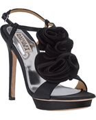 Badgley Mischka Randee Evening Sandal Black Satin - Lyst