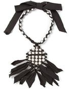 Lanvin Pearl And Ribbon Necklace - Lyst