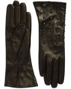 Vince Camuto Studded Long Driving Gloves - Lyst