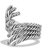 David Yurman Willow Open Four-Row Ring With Diamonds - Lyst