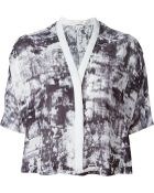 Helmut Lang Abstract Print Cropped Top - Lyst