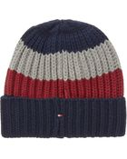 Tommy Hilfiger Rugby Striped Beanie - Lyst