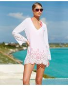 Kenneth Cole Reaction Long-Sleeve Laser-Cut Tunic Cover-Up - Lyst
