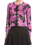 Tracy Reese Embellished Floral Printed Cardigan - Lyst