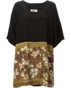 MM6 by Maison Martin Margiela Floral Print Shift Dress - Lyst