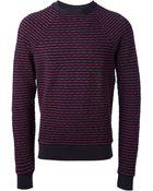 Paul Smith Striped Crew Neck Sweater - Lyst