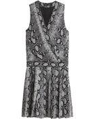 Proenza Schouler Snake Print Dress - Lyst