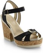 Jimmy Choo Nemesis Buckle Leather Platform Sandals - Lyst