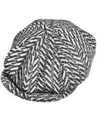 Paul Smith Wool Herringbone Newsboy Cap - Lyst