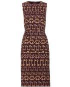 Dolce & Gabbana Printed Crepe Dress - Lyst