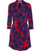 Diane von Furstenberg Freya Floral-Print Stretch-Crepe Dress - Lyst