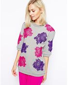 House of Holland Lace Sweat Tshirt - Lyst