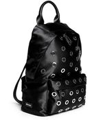 McQ by Alexander McQueen Metal Eyelet Nylon Backpack - Lyst