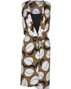 Diane von Furstenberg Sleeveless Crêpe Knee Length Dress - Lyst
