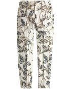 J.Crew Tall Garden Pant In Gold Foil Leaf - Lyst
