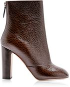 Rochas Printed Textured-Leather Ankle Boots - Lyst