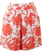 Oscar de la Renta Inverted Pleat Skirt - Lyst