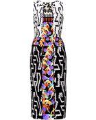 Peter Pilotto Kia Printed Stretch Crepe-Jersey Dress - Lyst