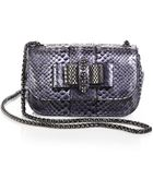 Christian Louboutin Sweet Charity Python Mini Shoulder Bag - Lyst