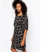 Monki Printed T-Shirt Dress - Lyst