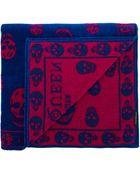 Alexander McQueen Skull Towel - Lyst