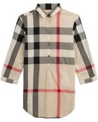 Burberry Brit Printed Cotton Shirt Dress - Lyst