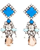 Shourouk Spootnik Crystal and Enamel Beaded Earrings - Lyst