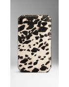 Burberry Animal Print Ponyskin Iphone 5/5S Case - Lyst