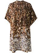 Roberto Cavalli Printed Tunic Dress - Lyst