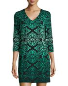 Ali Ro Baroque-print Jersey Shift Dress - Lyst