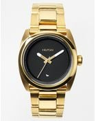 Nixon Kingpin Gold Stainless Steel Watch - Lyst