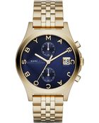 Marc By Marc Jacobs Slim Chrono Goldtone Stainless Steel Chronograph Bracelet Watch/Blue - Lyst